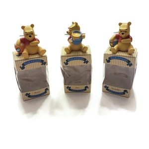 3x Pooh & Friends Honey Pot Gems Birthday Stones